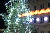 Vánoční strom v Libušíně.