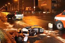 Nehoda v úterý večer na Sítné v Kladně