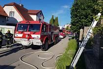 Ve Švermově hořel rodinný dům.