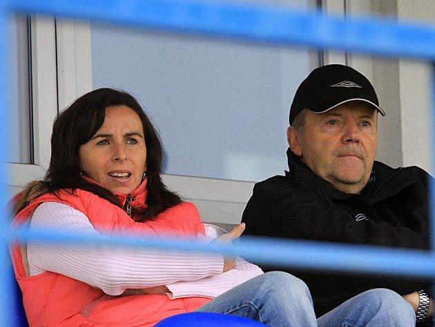 Utkání v Kladně navštívila i Dagmar Damková a Roman Berbr // SK Kladno - FC Písek  2:1 (0:0) , utkání 12.k. ČFL. ligy 2011/12, hráno 29.10.2011