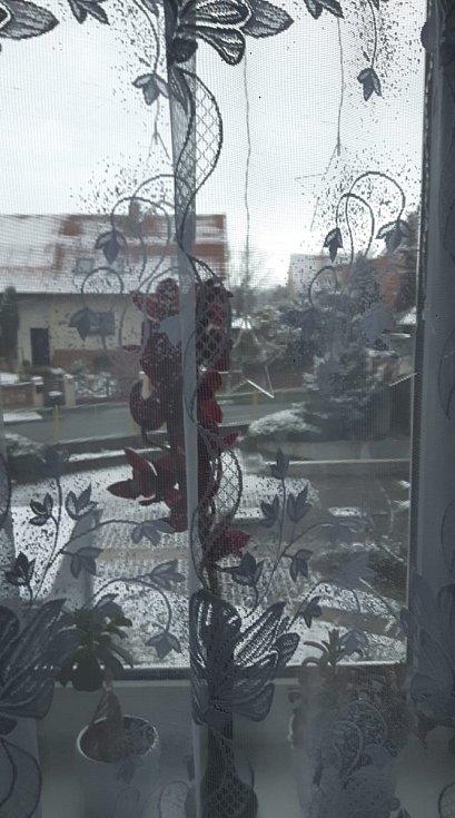 Zasněžená krajina ve Velvarech.