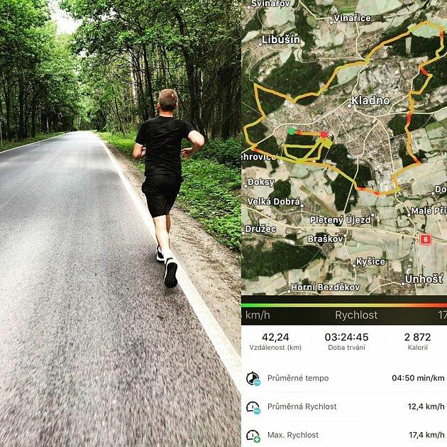 Fotbalista SK Kladno Jiří Růžička uběhl maraton.