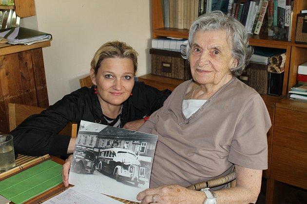 Setkání Kladenského deníku se jednadevadasátiletou Jaroslavou Skleničkovou doma vLidicích.