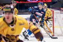 Šlágr hokejové Chance ligy Kladno - Jihlava okořenil návrat Jaromíra Jágra na led. Adam Kubík