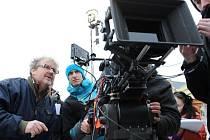 Režisér F.A.Brabec při natáčení Kameňáku 5