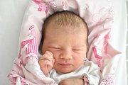 ADÉLA LEPKOVÁ, ČERVENÝ ÚJEZD. Narodila se 3. dubna 2018. Po porodu vážila 3,2 kg a měřila 47 cm. Rodiče jsou Monika Pušková a David Lepka. (porodnice Kladno)