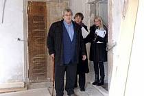 HEJTMAN JOSEF Říhák při prohlídce buštěhradského zámku společně se starostkou Buštěhradu Jitkou Leflerovou.