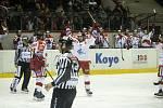 Hokejisté Mory (v bílém) porazili Kladno 4:0.