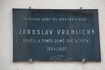 1. zastavení – Soukenická ulice č.p. 96. V tomto domě prožil své dětství Jaroslav Vrchlický.