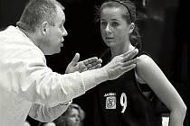 Trenér Lubomír Šauer se svou svěřenkyní  Anetou Olszowou.