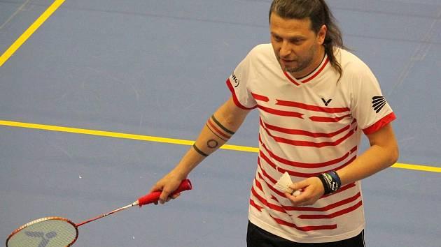 dan Skrčený byl jedním z nejúspěšnějších borců veteránského šampionátu badmintonistů.