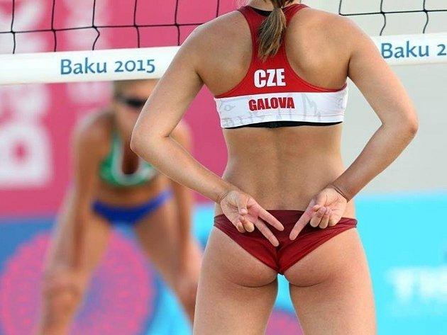 Eliška Davidová ještě jako Gálová na Evropských hrách vBaku.