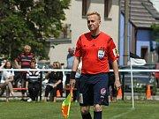 SK Hřebeč - HC Sparta 4:4, benefiční zápas byl sehrán 19. 6. 2016 ve Hřebči. Petr Blažej