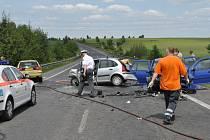 Tragická nehoda u Slaného, silnice I/7 ve směru na Lotouš