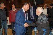 Oslava 110 let kladenské atletiky ve Sportovní hale Kladno.