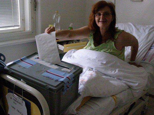 Fotky zvoleb vkladenské nemocnici