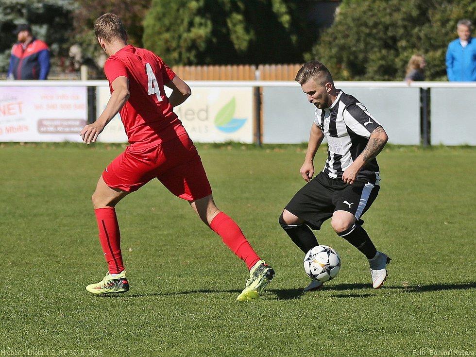 SK Hřebeč - SK Lhota 1:2, KP, 30. 9. 2018