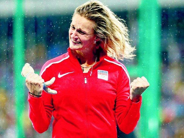 Bára Špotáková po získání bronzu na olympiádě v Riu 2016