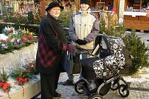 Vánoční trhy jsou v Kladně na Floriánském náměstí.
