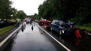 V úterý krátce před desátou hodinou se stala na okraji Kladna ve směru na Hřebeč dopravní nehoda čtyř vozidel.