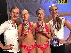 Šťastné holky ze Sport Academy Kladno slaví zlato a stříbro z MS v Nizozemí!
