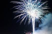 Tradiční ohňostroj ve Slaném sklidil velký potlesk