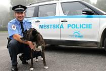Slánský strážník Pavel Šmíd neváhal a vytáhl psa z vodní nádrže