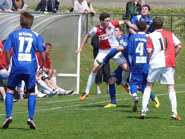 Dorost SK Kladno C sehrál doma proti Slavii Praha dobrý zápas, po nepovedeném závěru však podlehl 0:3.