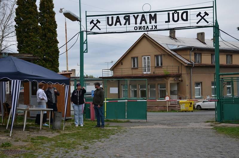 Ze Dne horníků v areálu Hornického skanzenu Mayrau ve Vinařicích.