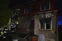Požár rodinného domu v Doksech.