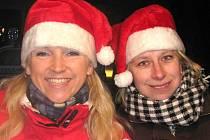 Rozsvícení vánočního stromu ve Slaném.