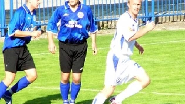 Místo I. ligy hrává Radek Šelicha (vpravo) spíše za dvizní béčko, ale pořád je to vynikající fotbalista.
