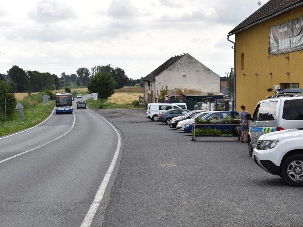 Nehoda ve Slaném na Pražském předměstí.