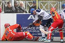 ALPIG Kladno - HBC Hradec Králové 1:2pp, semifinále Extraligy hokejbalu 2012-3