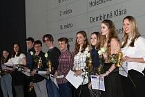 Vyhlášení nejlepších studentů a sportovců Sportovního gymnázia Kladno.