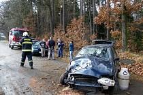 Řidič u Mšece havaroval kvůli zvěři.
