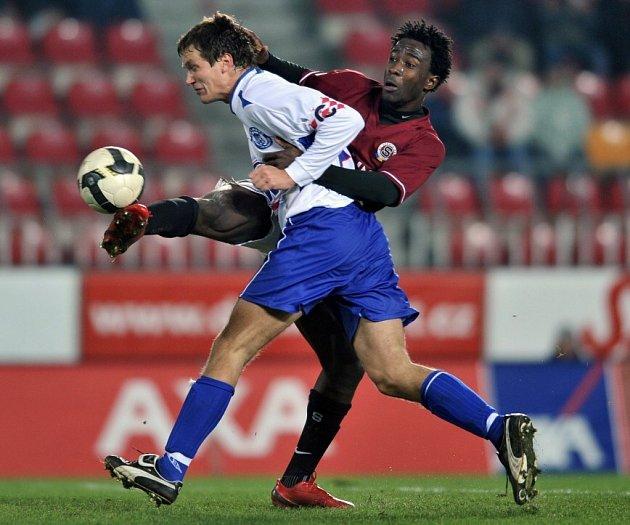 Sparta - Kladno 5:0, souboj Killar - Wilfried