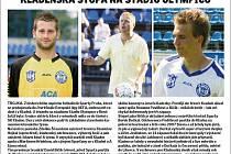 Trojice ex-kladeňáků byla u triumfu pražské Sparty, zleva David Bičík, Stanislav Hejkal a Bořek Dočkal.