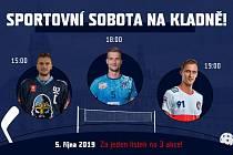 Sobotní nabídka tří ligových sportů za jedno vstupné.