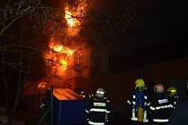Požár rodinného domu v Nouzově