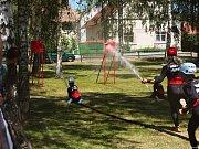 Do dětské části závodů se zapojily čtyři týmy ze Hřebče a Poštovic