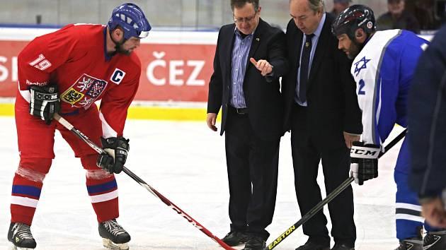 Česká republika - Izrael 11:6, přátelské exhibiční utkání veteránů, Kladno 21. 11. 2017