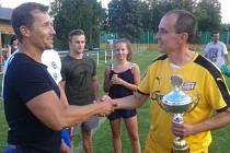 Trofej pro nejlepšího převzal družecký Messi Jirka Jupa.