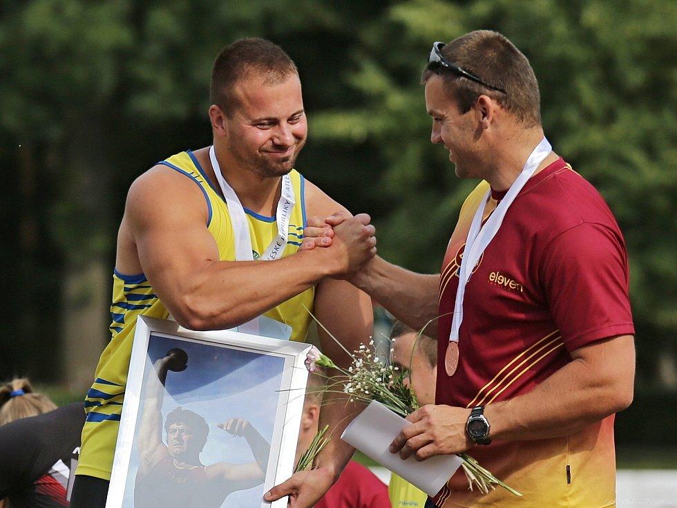 MČR v Atletice / Kladno - Sletiště 28. - 29. 7. 2018, Miroslav Pavlíček (vlevo) s Lukášem Melichem
