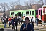 V poslední březnovou sobotu se na vlakovém nádraží ve Slaném i v blízkém okolí konal Den Cyklohráčku.