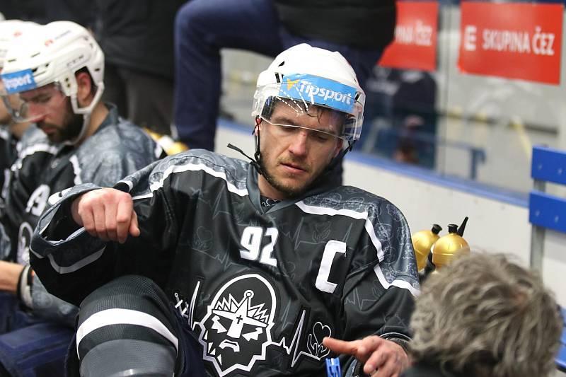 Kladno proti Mladé Boleslavi nastoupilo v úterý 3. března v černých nadačních dresech. Jakub Strnad