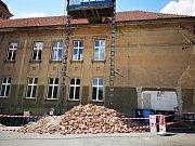 Rekonstrukce na 1. ZŠ Háje Slaný.