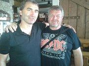 Losovací aktiv OFS Kladno. Jan Suchopárek a Pavel Fronc - SK Družec.