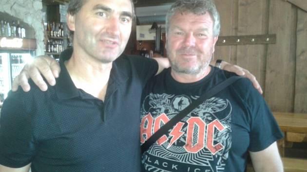 Kamarádi Jan Suchopárek a Pavel Fronc - SK Družec.