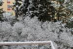 První podzimní sníh pokryl Kladensko a Slánsko.